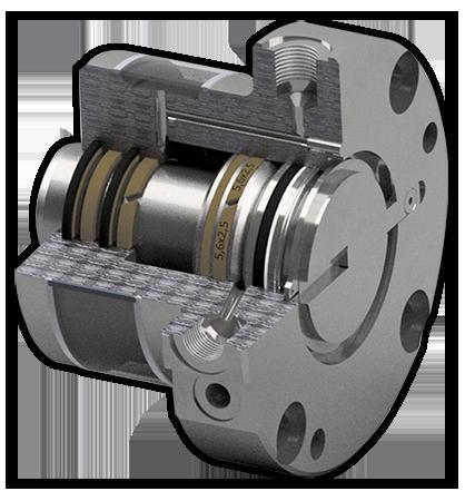 Hydraulikzylinder mit Kühlkreislauf