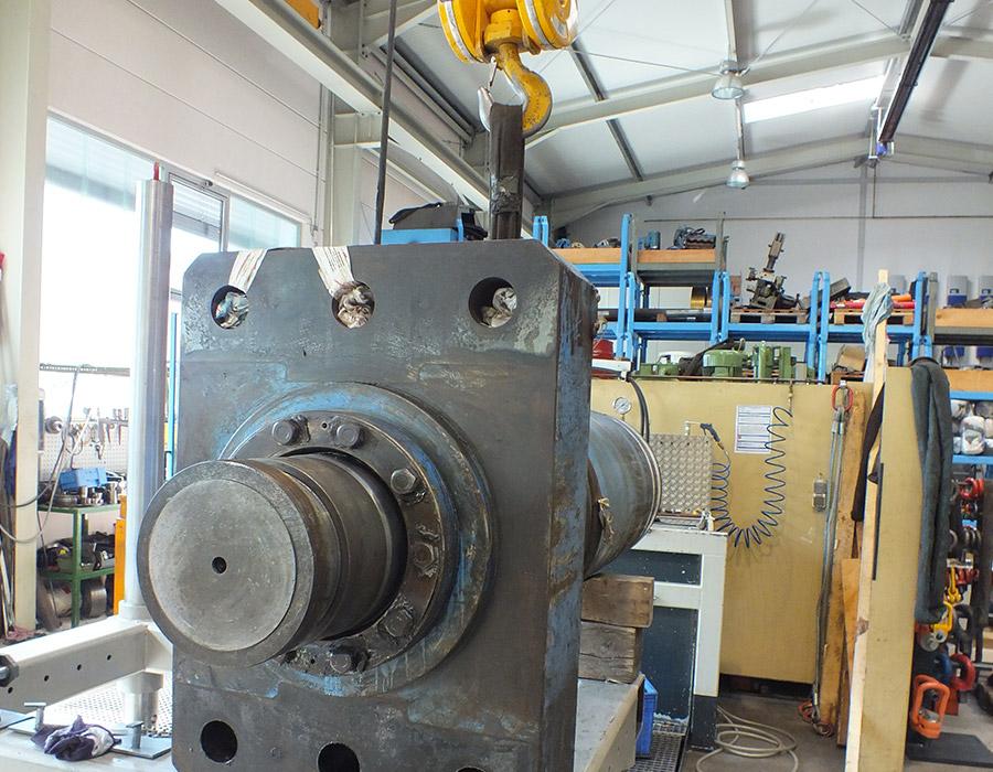 reparierter Hydraulikzylinder